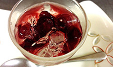 葡萄とミントのジュレ