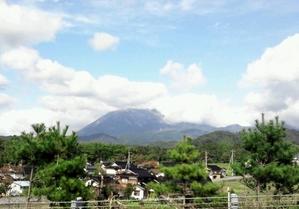 10月18日米子道からの大山