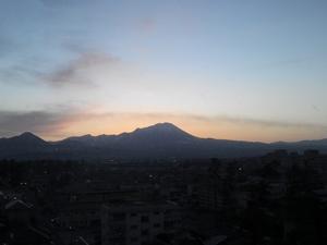 1月大山の早朝