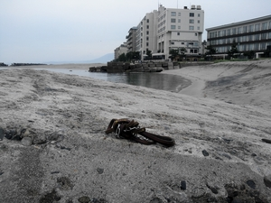 スカイと思い出 皆生の砂浜