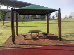防災公園、休憩場所