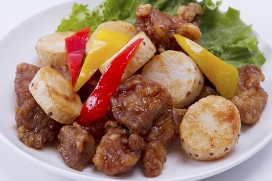 豚肉と長芋の甘酢あんかけ画像