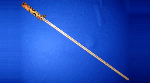 金剛杖(般若心経入) 杖ぼうし・鈴付<br>21-410 写真1