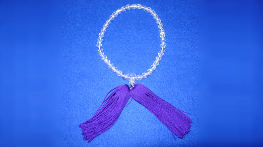 片手数珠 切子玉 房紫色<br>51-503 写真1
