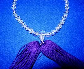 片手数珠 切子玉 房紫色<br>51-503 写真2