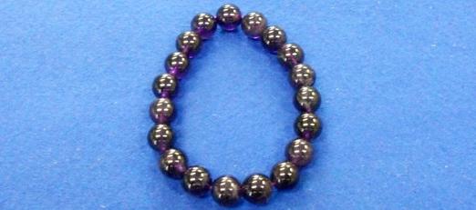 紫水晶 腕念珠(8・10・12mm) <br>98-200・201・202 写真1