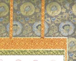 本金復元織正絹表装本佛仕立て 33-260(グレー)<br>透し金軸・太巻き仕様(真の真) 写真2