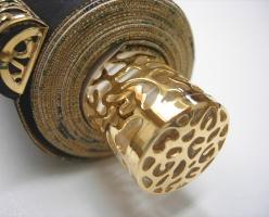 本金復元織正絹表装本佛仕立て 33-260(グレー)<br>透し金軸・太巻き仕様(真の真) 写真3