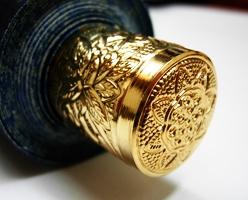 万寿牡丹正絹表装本佛仕立て 88-155 写真3