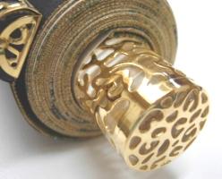 本金花王正絹表装本佛仕立て 88-250<br>透し金軸・太巻き仕様 写真3